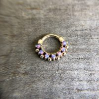 Circle shaped body piercing jewelry