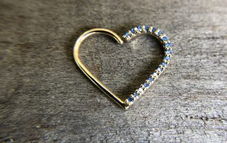 High end, heart shaped body piercing jewelry